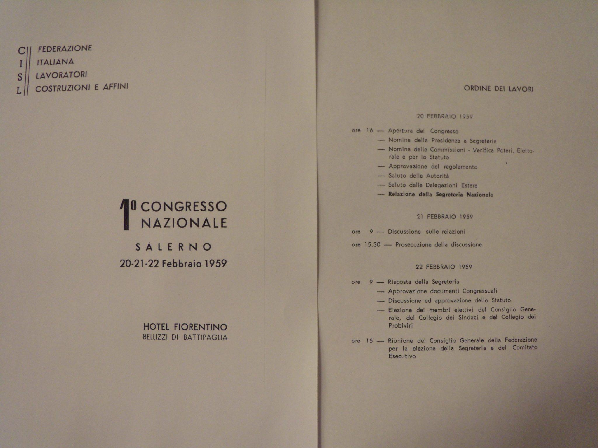 Salerno, I Congresso