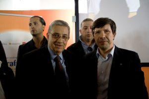Giuseppe Pignatone (procuratore capo di Reggio Calabria) e Domenico Pesenti (segretario generale Filca Cisl)