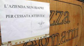 L'AQUILA, NEL 2012 HANNO CHIUSO I BATTENTI 2.056 AZIENDE