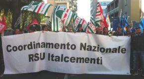 ITALCEMENTI, STATO DI AGITAZIONE CONTRO IL RISCHIO DI LICENZIAMENTI