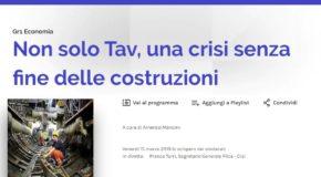"""TURRI AL GR1 ECONOMIA: """"COSTRUZIONI INTERESSANO TUTTO IL PAESE, VENERDI' SCIOPERO PER IL FUTURO DELL'ITALIA"""""""